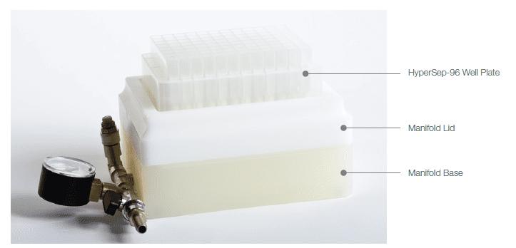 HyperSep-96 well plate vacuum manifold